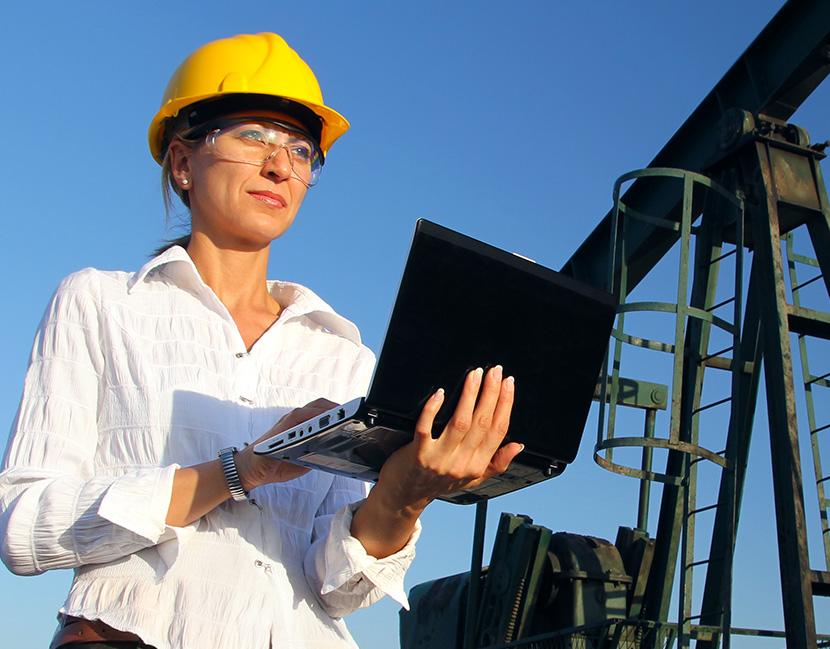 Mining Insurance Worker in an Oilfield
